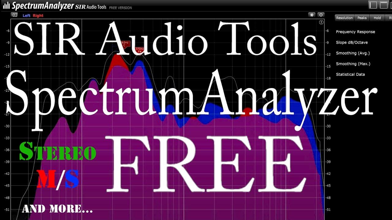 FREE Spectrum Analyzer by SIR Audio Tools
