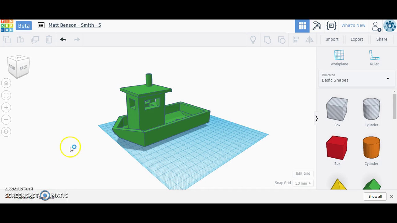 Exporting Tinkercad Model for 3D Printing