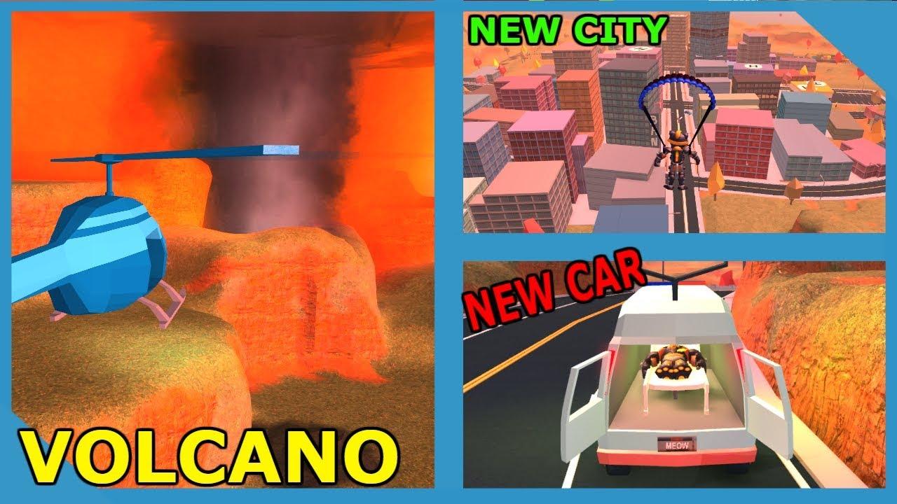 Roblox Jailbreak New Molten Car Jailbreak Volcano Event New City And New Car Roblox Jailbreak New Update Youtube