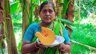 Village Food: Pumpkin Fried Recipe | Village Cooking