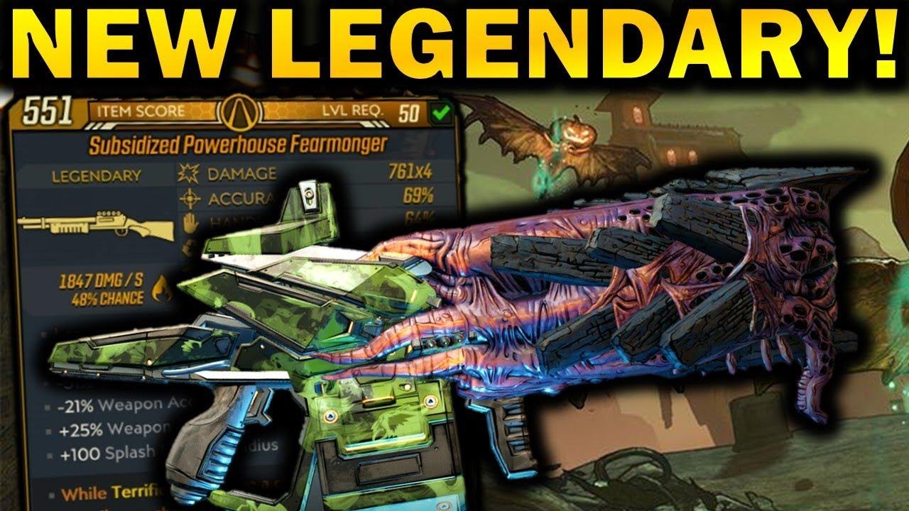 New FEARMONGER Legendary Weapon! - Borderlands 3 Bloody Harvest thumbnail