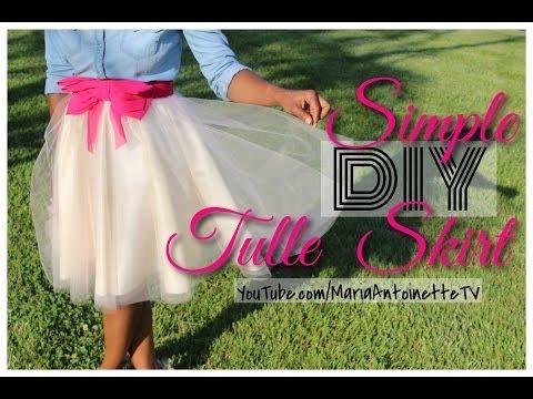 Simple Diy Tulle Skirt