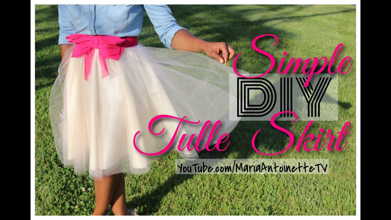458f3f4b398ab Simple DIY Tulle Skirt