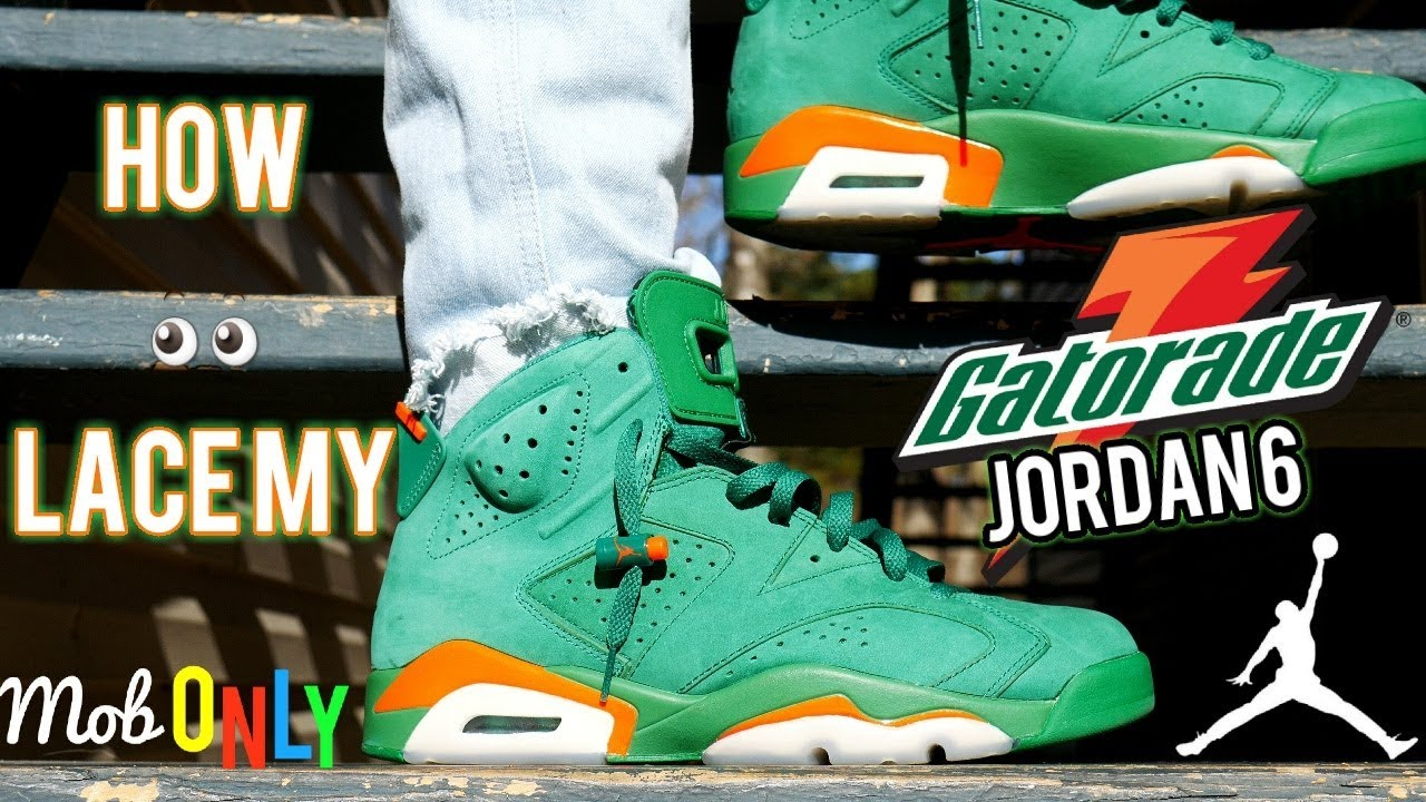 9c81e8abb23151 How I lace My Green Gatorade 6   (4k On Foot ) Tutorial - YouTube