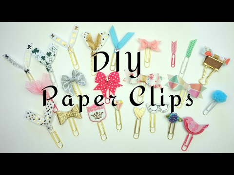 DIY Paper Clips / How to make Planner Accessories