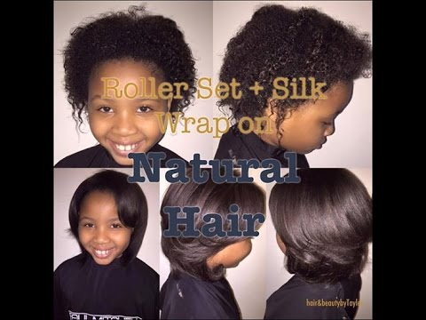 Roller Set Silk Wrap On Natural Hair Hair Beauty With Tayler