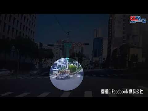 女三寶闖紅燈 警騎車遭撞飛【影】