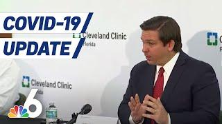 Gov. Ron DeSantis Delivers Coronavirus Update At Cleveland Clinic in Weston | NBC 6