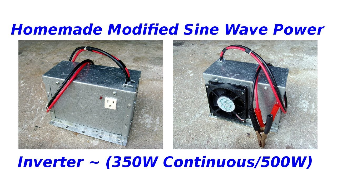 Modifying Square Wave Inverters To Sine Equivalents Homemade Modified Power Inverter350 500w Youtube