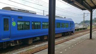 E653系いなほ あつみ温泉駅発車