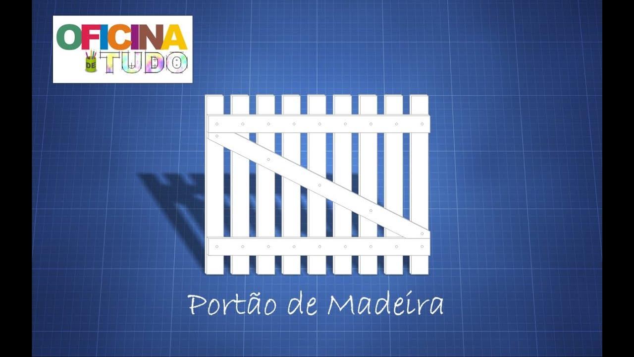 Oficina de Tudo Tutorial: Como construir um portão de madeira  #C49B07 1260x787