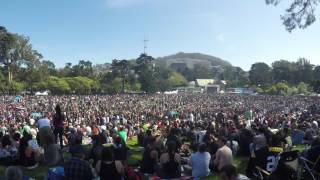 4/20/2017 - Hippie Hill, SF - 4K Time Lapse