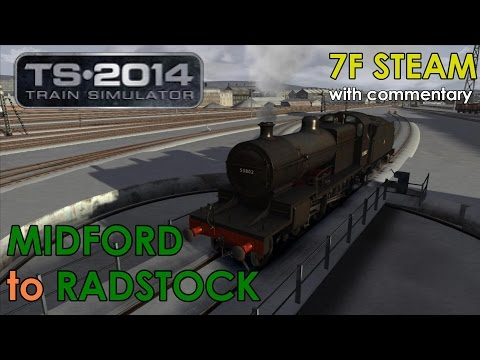 Train Simulator 2014 Lets Play   7F Steam Engine: Midford to Radstock [Commentary]