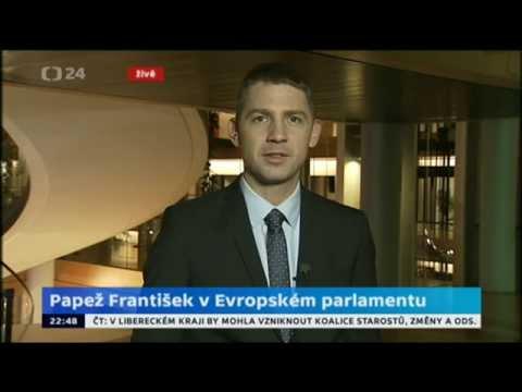 Petr Mach ocenil projev papeže Františka v EP