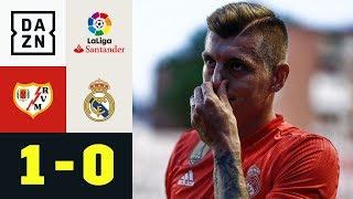 Toni Kroos und Co. verlieren beim Letzten: Rayo Vallecano - Real Madrid 1:0 | La Liga | DAZN