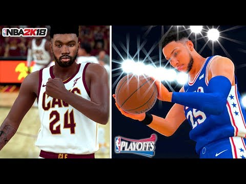 NBA 2K18 MY CAREER - EASTERN CONFERENCE GAMES 1& 2 vs THE 76ers!!