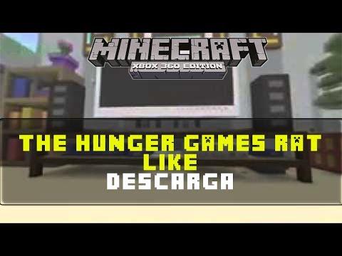 Minecraft Xbox 360    RAT LIKE HUNGER GAMES   Descargar Mapa