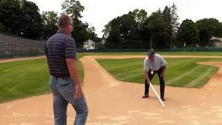 Chipper Jones watches footage of father-son backyard game, relives experience in Cooperstown