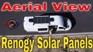Van Parts in Lake Havasu - Aerial View of Renogy Solar Panels