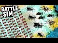 1000 FIRE ANTS Army vs Giant SPIDERS!  (Empires of the Undergrowth NEW Battle Simulator Mode)