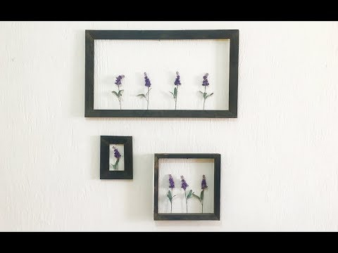 Home D Cor On A Budget Wall Frame With Flowers