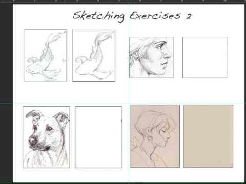 Sketching Exercise 2 / Intermediate Sketching Lesson - YouTube