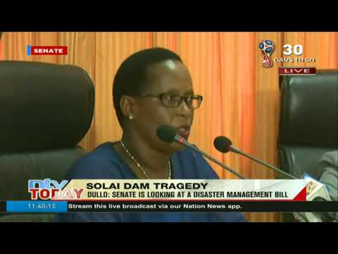 Senate security committee gives report on dam collapse in Solai