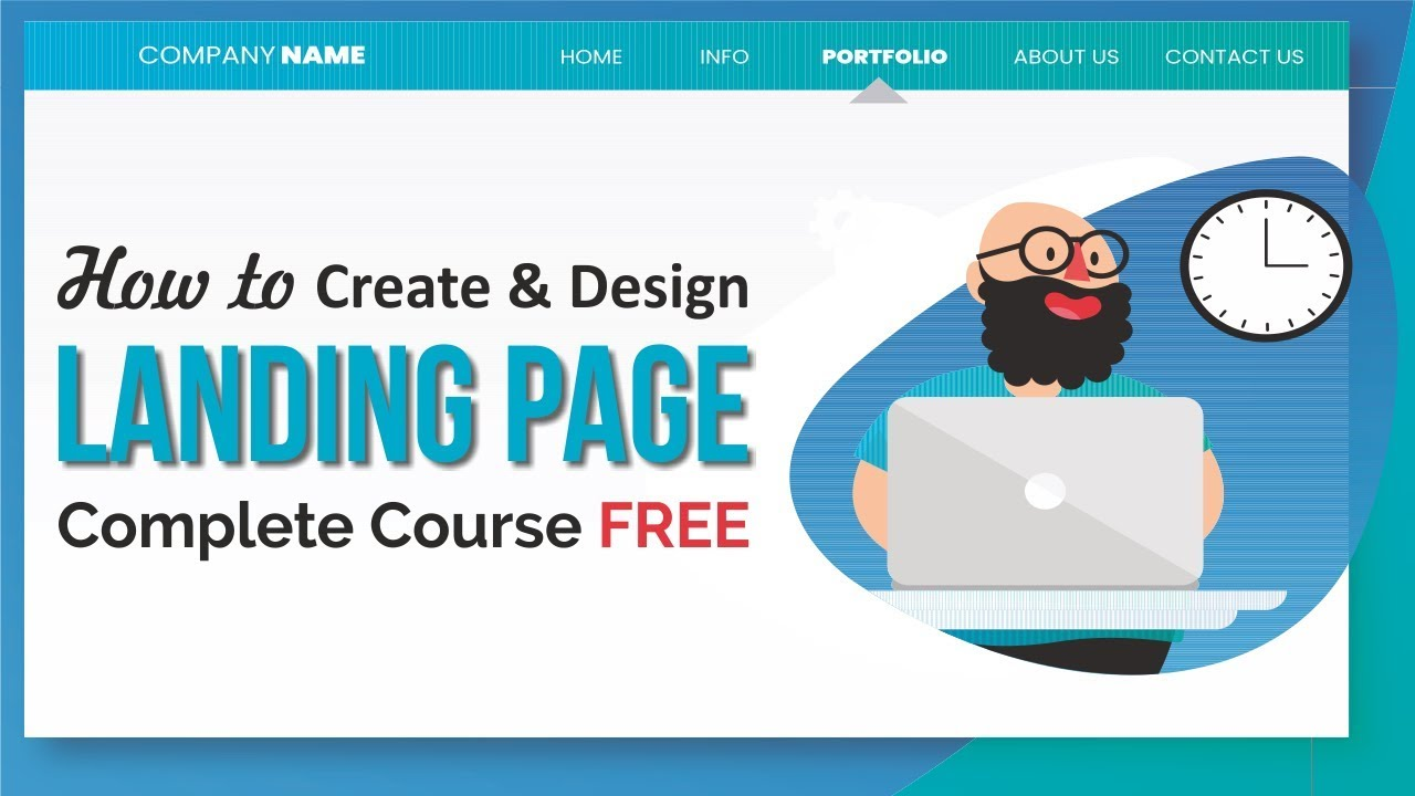 Free Landing Page Complete Course - How to Make Landing Page with Elementor and MailChimp 2018