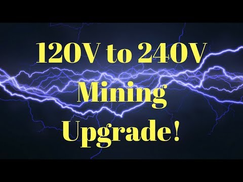 Upgrading Mining Rigs From 120V To 240V Vlog #1