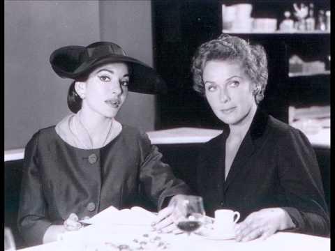 Maria Callas interrogates Elisabeth Schwarzkopf