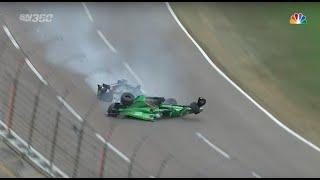 Newgarden & Daly Massive Crash | IndyCar - Texas 2016