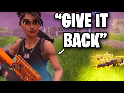Scammer loses his MODDED Gun! 😂😱 (Scammer Get Scammed) Fortnite Save The World