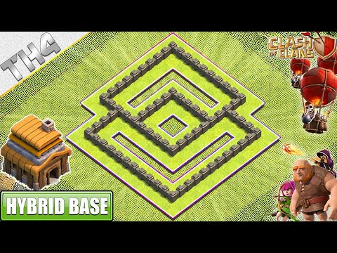 NEW BEST Town Hall 4 (TH4) Base With COPY LINK 2019 - Clash Of Clans