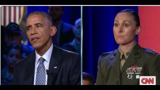 President Obama on Women in Combat