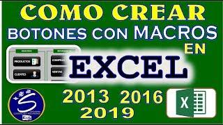 Como Crear botones con Macros en Excel 2016 2013 2019  -Hipervínculos- Facil y Rapido