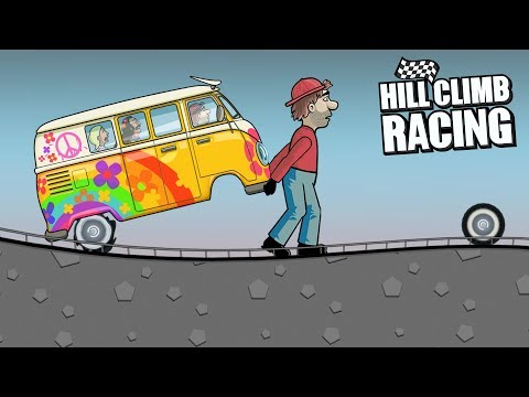 Hill Climb Racing - HIPPIE VAN In HIGHWAY 😱 New Record GamePlay