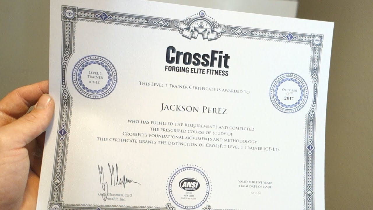 Crossfit Level 1 Trainer Youtube