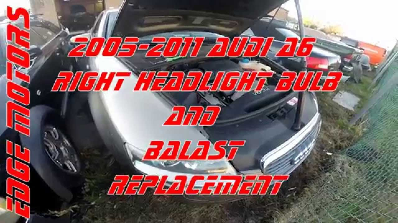 2005 - 2011 Audi A6 right headlight bulb and balast replacement by Audi A C Wiring Diagram on audi a4 fuse diagram, audi wiring diagrams pdf, audi wiring diagram 04, audi a6 fuse box diagram, audi wiring-diagram mirror, audi reverse wiring diagram 2009, audi tail lights wiring, 1997 audi a4 quattro wiring-diagram, audi backup sensor wiring, audi starter wiring, audi q7 fuse diagram, audi tt wiring diagrams 99,