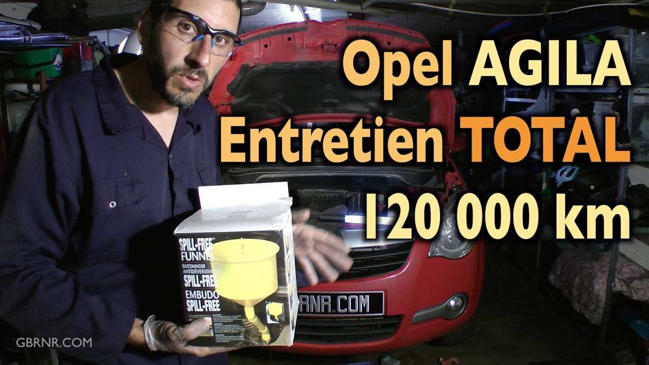 entretien complet opel agila 120000 km youtube. Black Bedroom Furniture Sets. Home Design Ideas