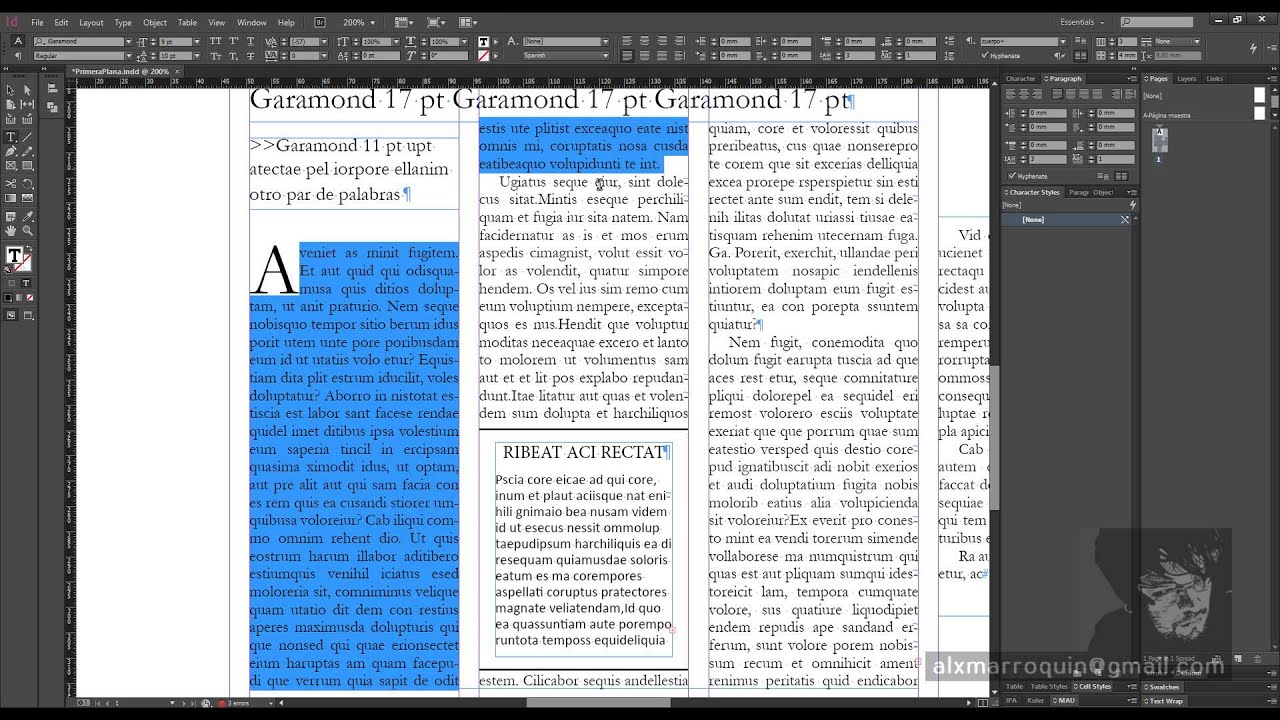 InDesign - Diseño de Periódicos - 04-Estilos de Carácter - InDesign ...
