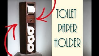🛠 DIY Toilet Paper Holder (with drawer 😉)   Crafter Maker