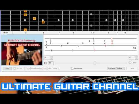 Guitar Solo Tab] Build Me Up Buttercup (The Foundations) - YouTube