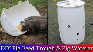 Diy Pig Trough And Pig Waterer