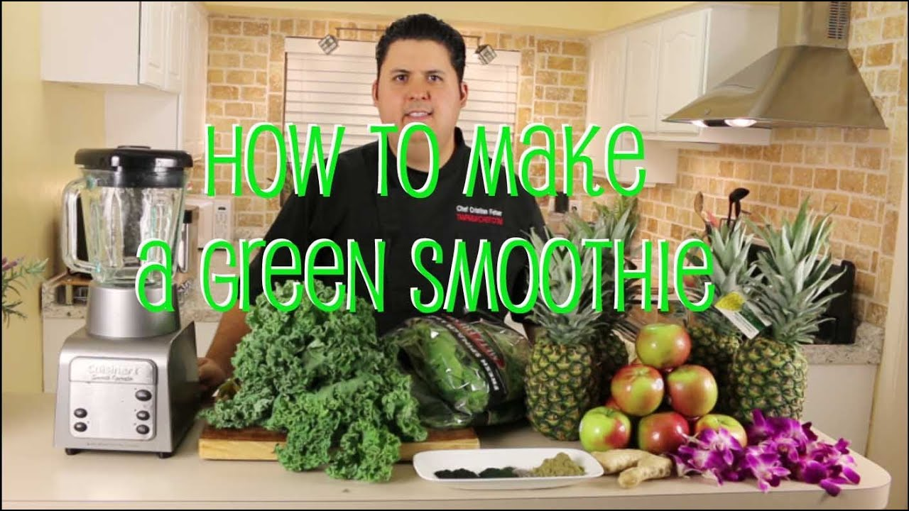 How to make green smoothies with spirulina   with Chef Cristian Feher