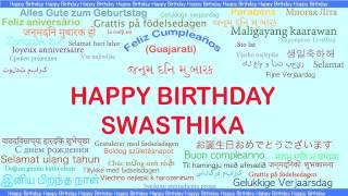 Swasthika   Languages Idiomas - Happy Birthday