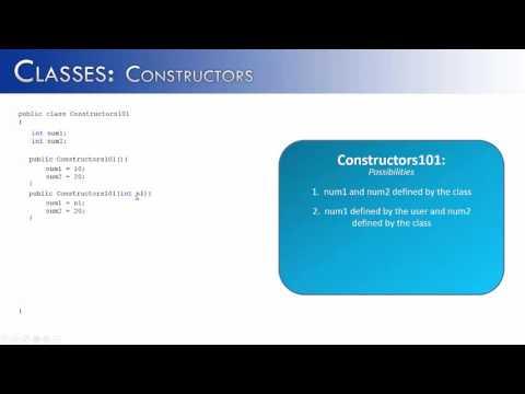 Classes Part 12:  Constructors (Java) Mp3