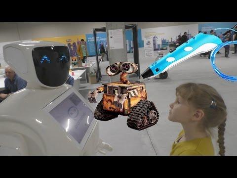 Фантастика Супер Роботы и 3d ручка на выставке робототехники #Robot