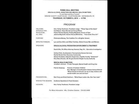 Heroin epidemic Townhall meeting Waynesburg Pennsylvania
