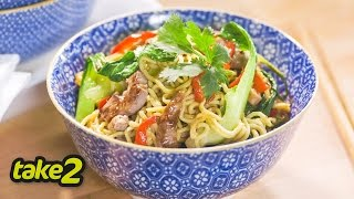 Pork Stir Fry Recipe With Vegetables And Noodles
