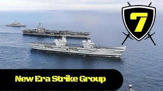 Royal Navy - HMS Queen Elizabeth Sails with USS George H.W. Bush and their Escorts